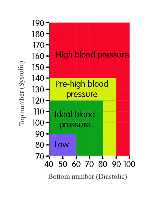 Blood pressure range