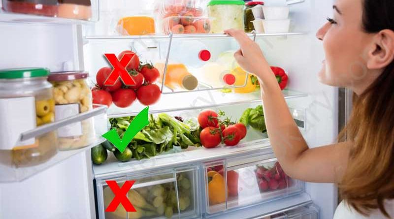Food not store in fridge
