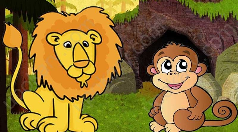 lion and monkey tale