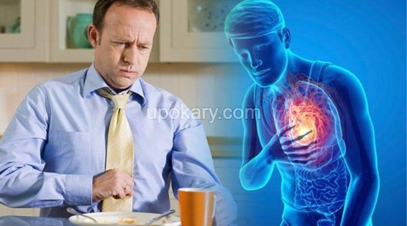 man with acidity