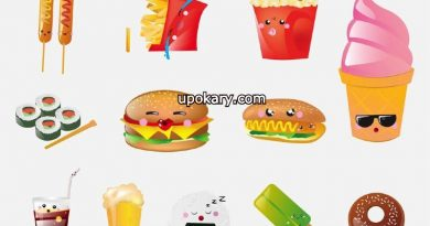 different foods and beverages