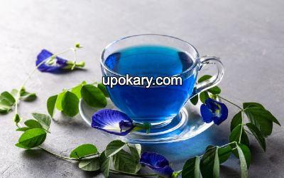 blue flower tea butterfly