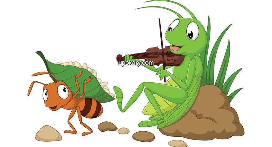 ant grasshopper story