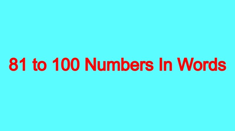 81-to -100-Numbers-In-Words